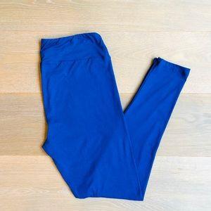 LULAROA Tall & Curvy Solid Blue Leggings NWOT